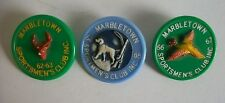 Lot of 3 Vintage MARBLETOWN SPORTSMEN'S CLUB Pins, Ulster County NY