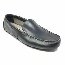 Men's Sperry Top-Sider Loafers Shoes Size 13 M Black Leather Casual Slip On O1