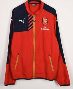 LONDON FC ARSENAL Men's Puma M Red Tracksuit Jacket Top Zip Up Jumper Sweater