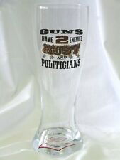 "Jeff Foxworthy ""You Might Be A Redneck Rust Politicians 24 oz Pilsner Glass New"