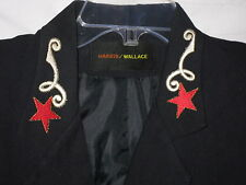 VINTAGE Harris Wallace Jacket Blazer Nautical Captains Retro Stars Embroidered