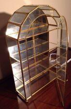 VTG Glass & Brass Shadow/Jewelry/ Trinket/ Box W/ Mirrored Back, (AAA)