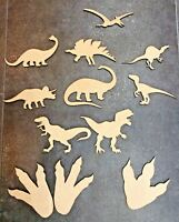 Dinosaur Wooden Craft Shapes Decoration Art T-Rex Footprints Laser Cut