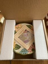 New ListingLongaberger Pottery Sunflower Pedestal Candle Holder New In Box!