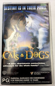 Cats & Dogs Destiny Is Their Paws VHS Video Cassette Tape Clear Small Box PAL PG
