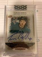 2019-20 UD Clear Cut Embedded Endorsements Gold TOMAS HERTL #EE-TH #23/25