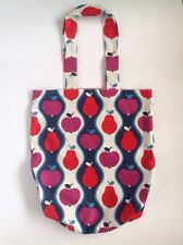 Ladies Handmade Vintage Fruit Eco Shopper tote school library or casual bag