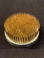 "VINTAGE Metal FLOWER Arrangement FROG Antique Spike PinMade In Japan 2-1/2"""