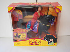 Mulan horse Real Riding doll Khan Disney Barbie size Mushu  nrfb