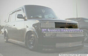 Fits 04-06 Scion xB GTS Smoke Acrylic Headlight Upper Grille Panel Cover GT0173B