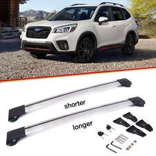 For 2014-18 Subaru Forester Roof Rack Top Cross Bar Rail Pair -Silver Aluminum