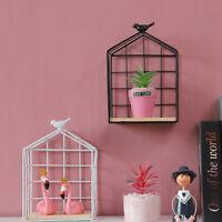 Wall Mounted Storage Holders Bird Shelf Hanging Rack Shelves Display Home Decor