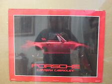 vintage Porsche Carrera Cabriolet 1985 car garage man cave 5505