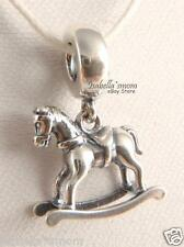 ROCKING HORSE Authentic PANDORA Sterling Silver BABY Dangle Charm NEW 791413