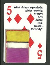 Mark Rothko Abstract Artist Painter Neat Playing Card #5Y6