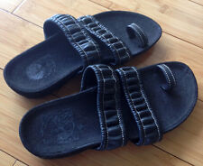 TIMBERLAND 6 M Toe Strap Sandals Shoes Flip Flop Black Leather US 6 M Light Used