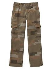 NEW GAP Kids Boys Size 7 Regular Camo Cotton Slim Cargo Pants Adjustable Waist