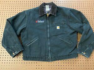 MENS 46 - Carhartt UJ01 Detroit Duck Blanket Lined Work Jacket USA