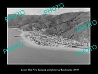 OLD LARGE HISTORIC PHOTO LOWER HUTT NEW ZEALAND AERIAL VIEW EASTBOURNE c1950 1