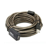Black 10M USB 2.0 Active Repeater Male to Female Extension Cable Adapter Cord