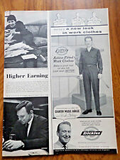 1958 Dickies Action-fitted Work Clothes Ad  Country Music Jubilee Red Foley