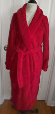 EUC DEEP RED SCULPTED CRABTREE & EVELYN LONDON LONG WOMEN'S ROBE w/TIE SIZE XS