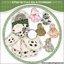 DISK 2 - 6 Pop Up Card Kits & Envelopes - CD-ROM