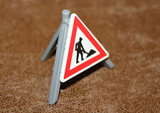 Playmobil accessoire de rue panneau de signalisation chantier travaux ref hh