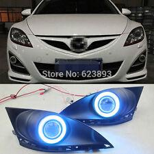 2x LED DRL Fog lights+Angel Eyes For Mazda 6 2010-13 (GH) 2 generation restyling