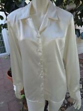 WORTHINGTON Medium 6 Blouse Shirt Top Metallic Ivory Shinny