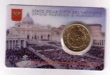 Vaticano 50 cent coincard 2015   N° 6  con posta prioritaria
