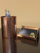 Yancey Hammered Copper Pen Pencil Business Card Holder Combo Gift Anniversary