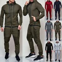 Men's Jogging Hoodie Coat Jacket +Trousers Pants Tracksuit Sports Sweat Suit Set