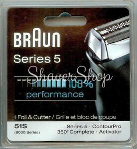 NEW BRAUN 51S 8000/SERIES 5- 590CC 590 570 550 8995 8985 Shaver FOIL+CUTTER SET