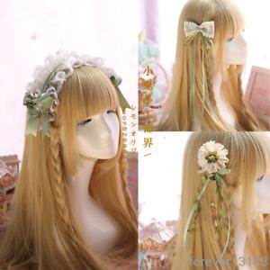 JAPANESE HAIR PIN ORNAMENTAL HAIR ACCESSORY Orange /& Gold Flower NIP