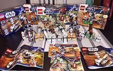 Lego 6489, 2X 7913, 2X 9488 Endor Rebel & Imperial, Clone & Droids Battle Packs