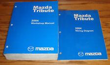 Original 2004 Mazda Tribute Shop Service Manual + Wiring Diagram Set 04