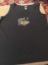 Harley-Davidson Womens XL BLACK Pigeon Forge, TN Tank Top Cotton (JB)