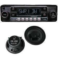 Mercedes Benz W124 Set Retro Radio schwarz +2 Wege Lautsprecher vorne 12cm 80 W