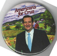 2016 pin TED CRUZ pinback  Americans for .....  Campaign button