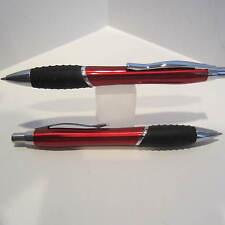 2 TERZETTI BUMP RED Ballpoint Pen-Large Heavy Metal /Rubberized grip