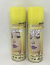 Lot of 2 GOODMARK Temporary YELLOW Spray On Shampoo Out Hair Color 3 Oz