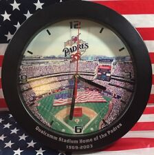 San Diego Padres 35th Anniversary Qualcomm Stadium Wall Clock