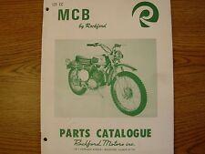*Rockford Mcb Motorcycle Parts Catalog Manual