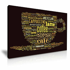 Coffee or Cafe Shop Canvas Wall Art Picture Print  76x50cm