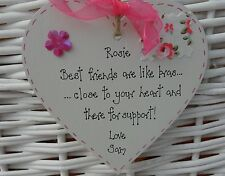 Best special friend gift shabby personalised heart chic keepsake -birthday gift