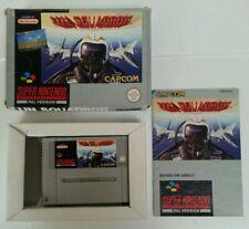 SUPER NINTENDO - SNES U.N. Squadron Boxed Complete Game Capcom PAL Bandai 1991