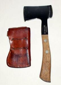 Vintage Case XX nickel or stainless Camping Ax, with sheath - NO RSRV