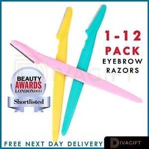 1/3/6/9/12 Pcs Eyebrow Razor Trimmer Sharper Shaver Facial Safety Hair Remover