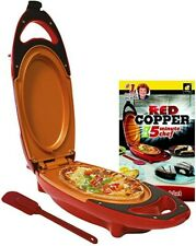 Red 5 Minute Chef Copper Electric Cooker Pan Non-stick Omelette. Easy To Use